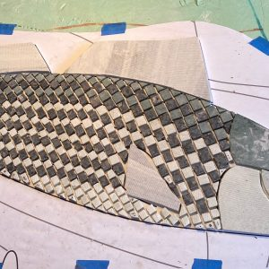 5 stone mosaics for 5 new Norfolk Public Schools
