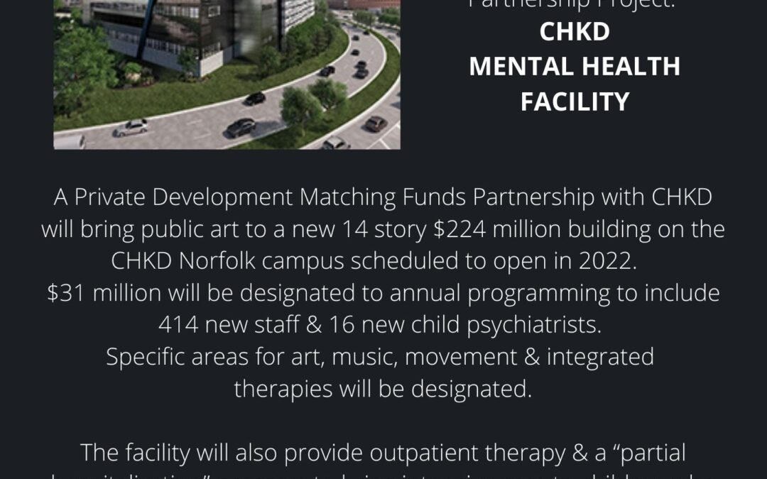 Coming Soon: Call to artists to create public art for new CHKD building