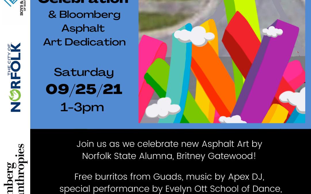 09/25, 1-3pm Free Community Celebration & Asphalt Artwork Dedication