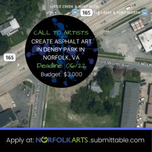 Create Asphalt Art in Denby Park in Norfolk, VA