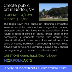 Create Public Art in Norfolk, VA