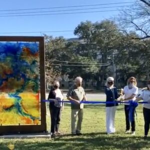 New artwork installed at the Larchmont Library trailhead: 10/24/20