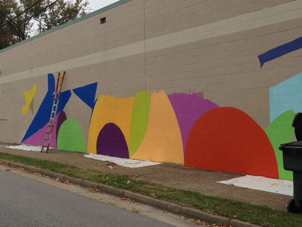 Community Mural created during Imagine 5 Points in 2018