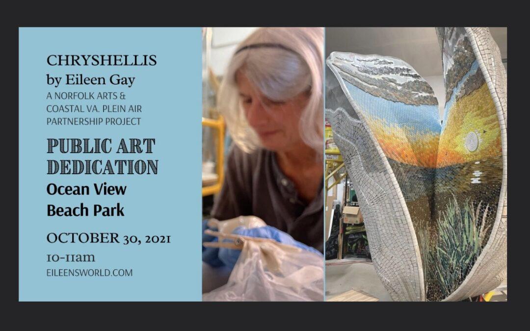Public Art dedication October 30, 10am OV Beach Park
