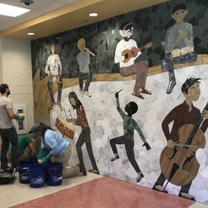 Final Mosaic by Marc Archambault installed June 22