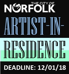 Apply now to be a City of Norfolk, Artist-in-Residence in 2019