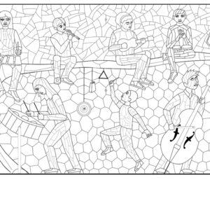 5 stone mosaics for 5 new Norfolk Public Schools