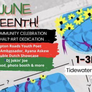 Juneteenth Community Celebration and Asphalt Art Dedication