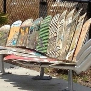 Skate Trees and Leaf Benches